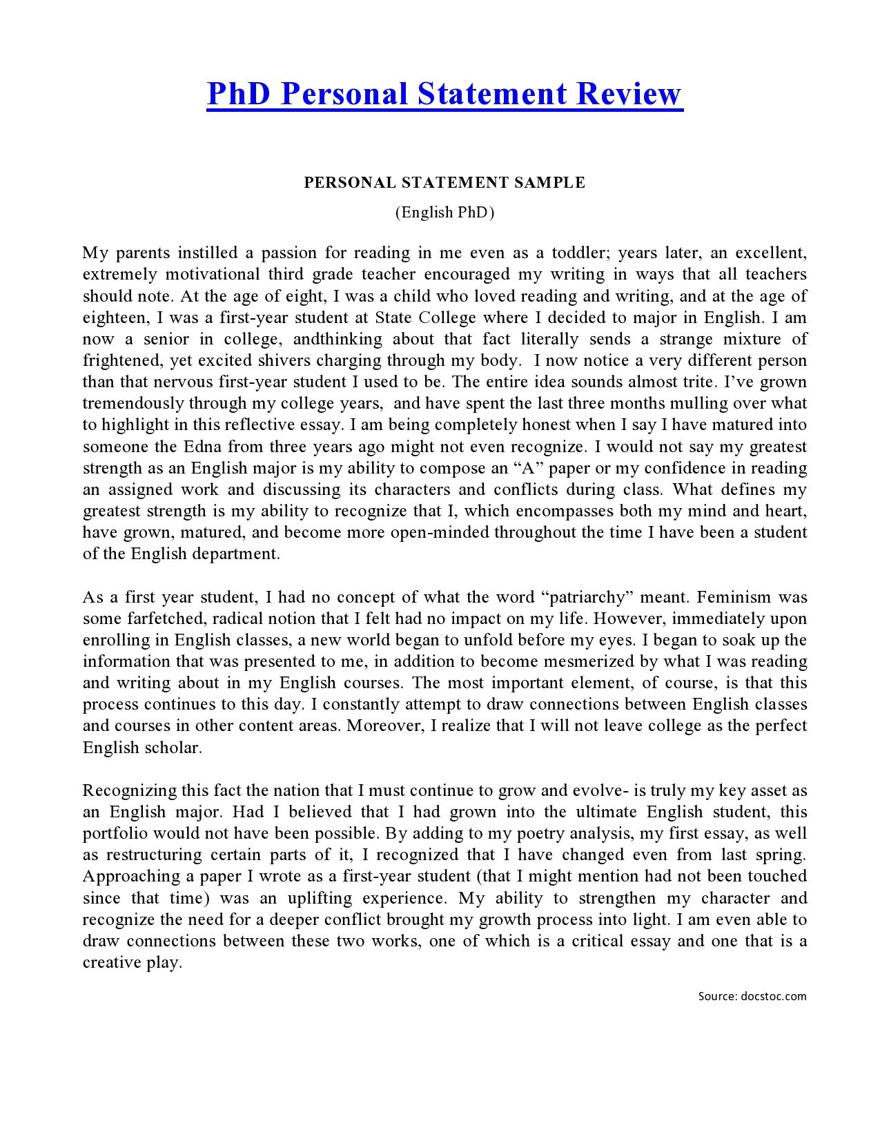002 Essay Example Social Work Personal Rare Statement Full
