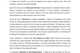 002 Essay Example Speechoneducationfolio Phpapp02 Thumbnail Education Gives Best Power One
