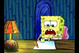 002 Essay Example Spongebob Spongebobs Youtube Maxresde Writing For Hours Rap The Font Meme Surprising Pencil