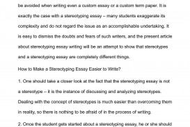 002 Essay Example Stereotype Unique Hook Conclusion