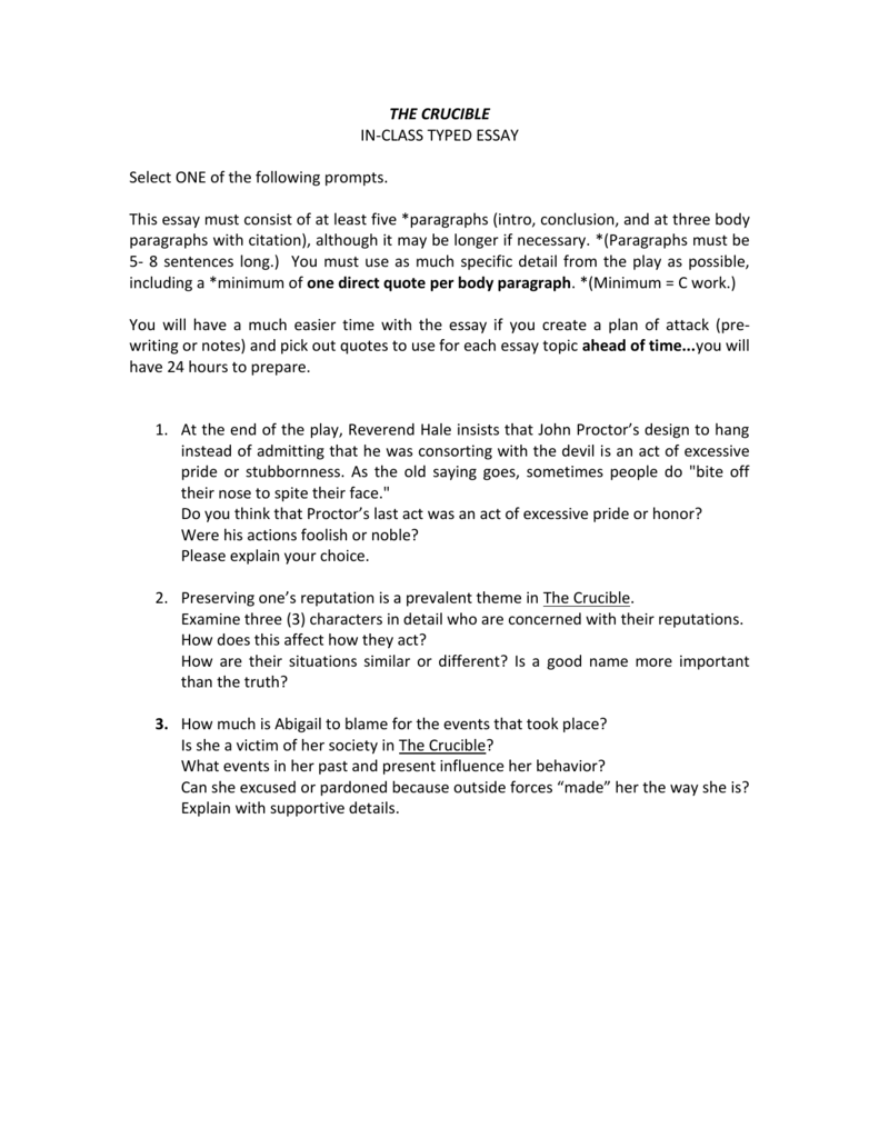 002 Essay Example The Crucible Topics 008038869 1 Shocking Topic Sentences Analytical Writing Prompts Full