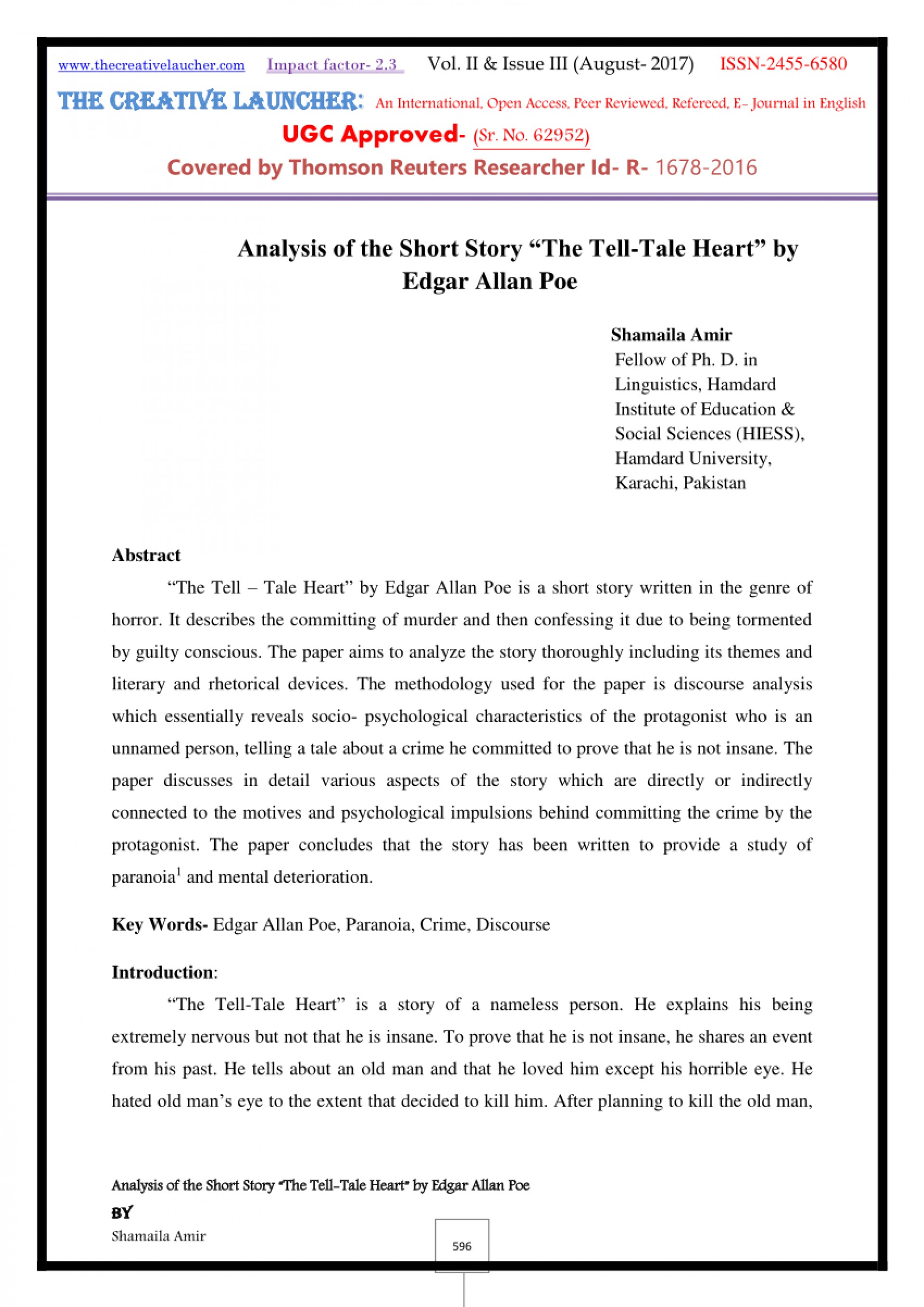 002 Essay Example The Tell Tale Heart Wonderful Questions And Answers Prompt 1920