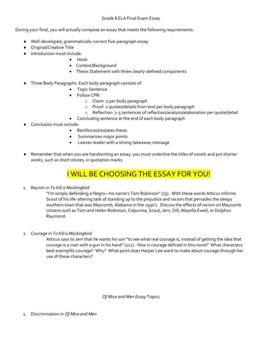 002 Essay Example To Kill Mockingbird Topics 008008940 1 Stunning A Topic Sentence Year 10 Pdf