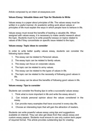 002 Essay Example Values Unusual Moral Core Claim Of Topics 360