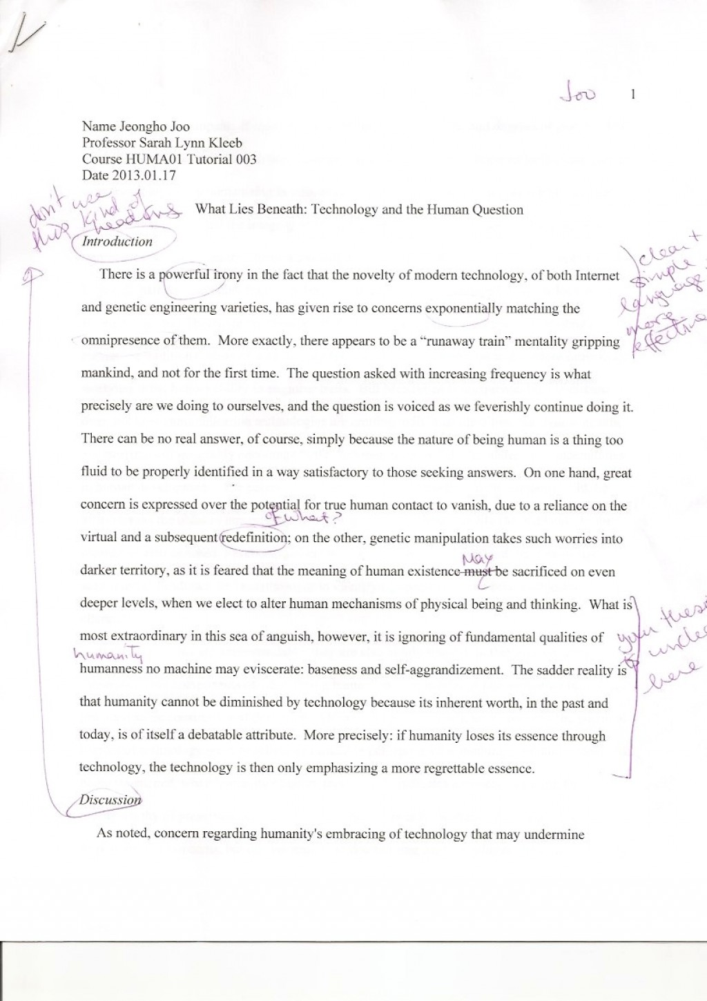 002 Essay Example What Does It Mean To Human Phenomenal Be Pdf Religion Anthropology Large