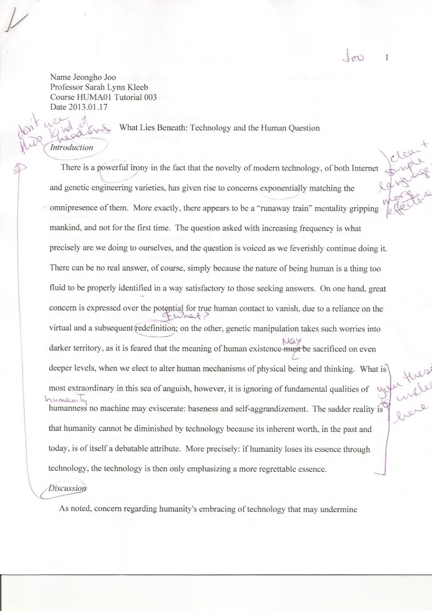 002 Essay Example What Does It Mean To Human Phenomenal Be Pdf Religion Anthropology 868