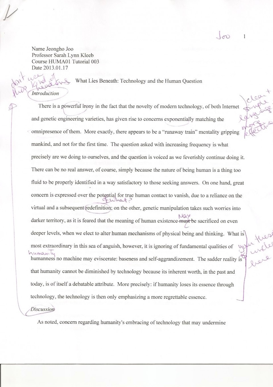 002 Essay Example What Does It Mean To Human Phenomenal Be Pdf Religion Anthropology 960