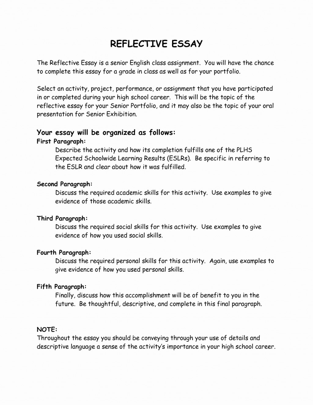 002 Essay Example What Is Reflective Best Solutions Of English Editor Free On Unique Remarkable A Personal Examples Format Large