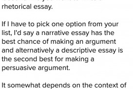 002 Essay Example Which List Best Describes The Organization Of An Argumentative Fearsome Brainly