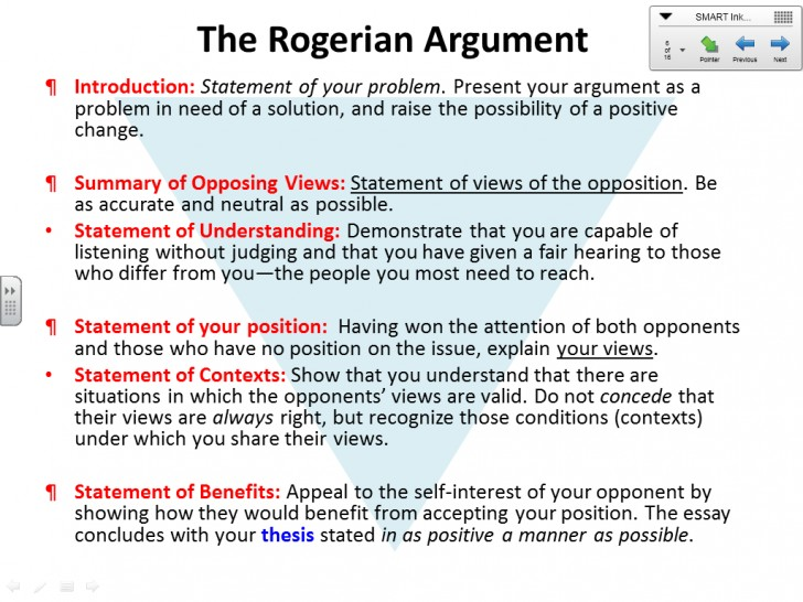 002 Essay Example1 Best Rogerian Argument Example Sentence Abortion Style Topics 728