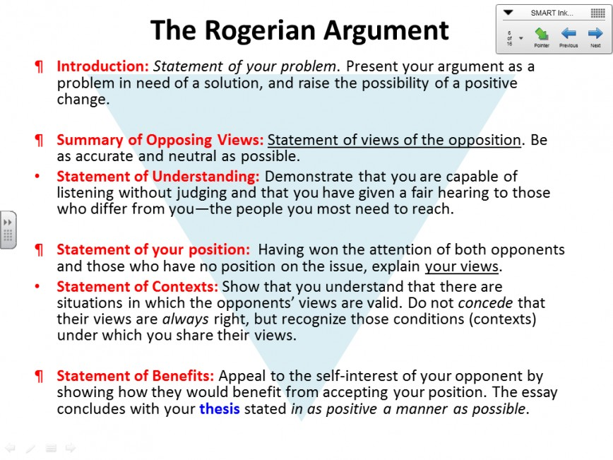 002 Essay Example1 Best Rogerian Argument Example Sentence Abortion Style Topics 868