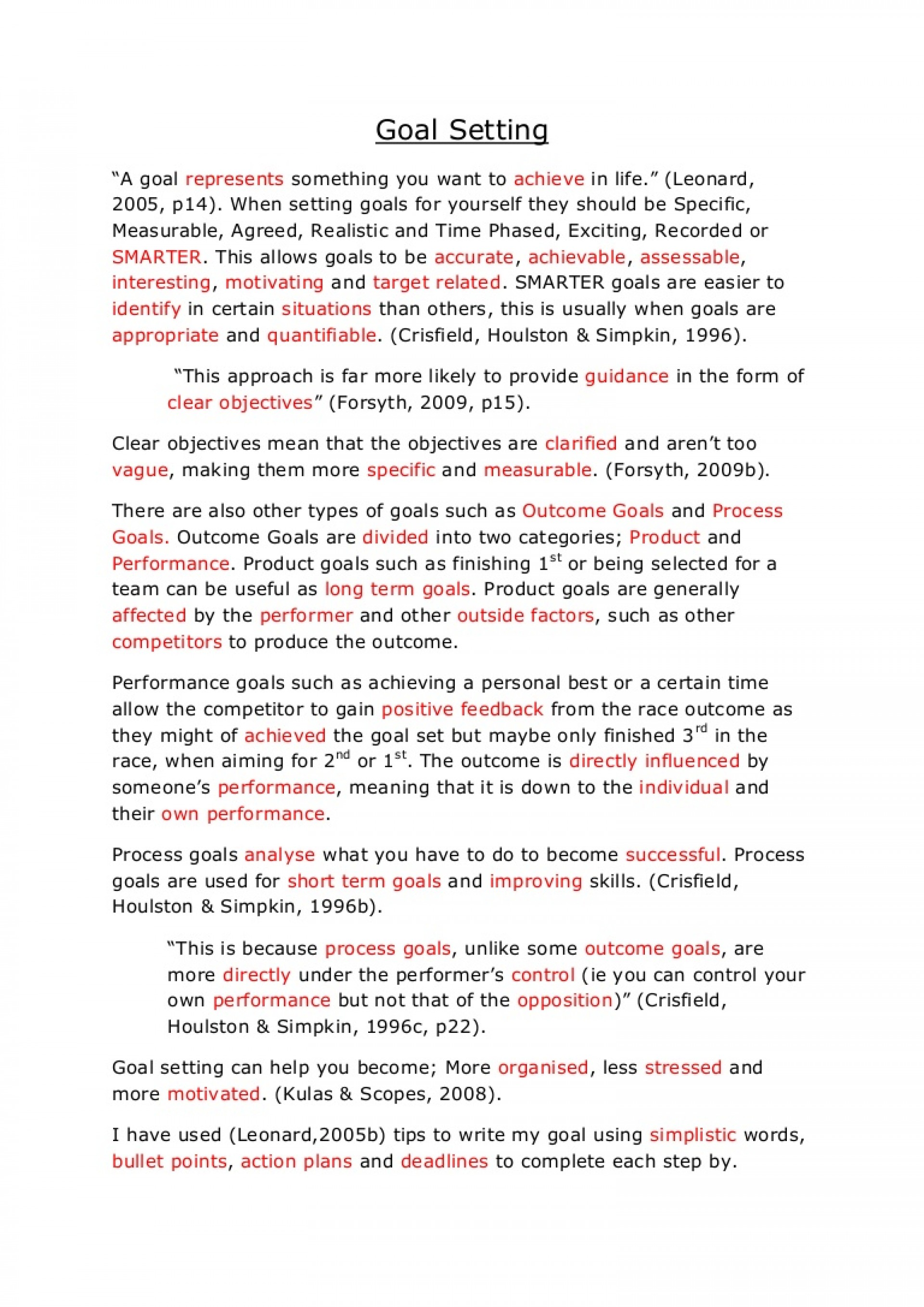002 Essay On Achieving Goal Example Goalsetting Phpapp02 Thumbnail Stunning A Narrative 1920