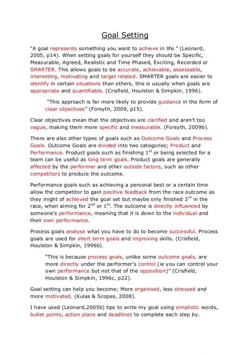 002 Essay On Achieving Goal Example Goalsetting Phpapp02 Thumbnail Stunning A Narrative 868