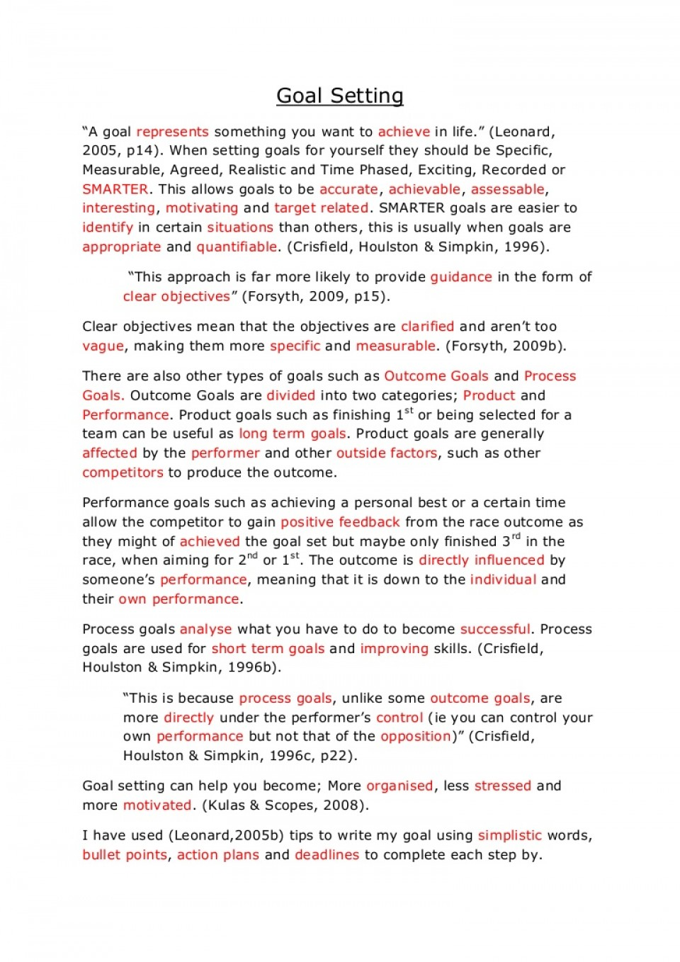 002 Essay On Achieving Goal Example Goalsetting Phpapp02 Thumbnail Stunning A Narrative 960