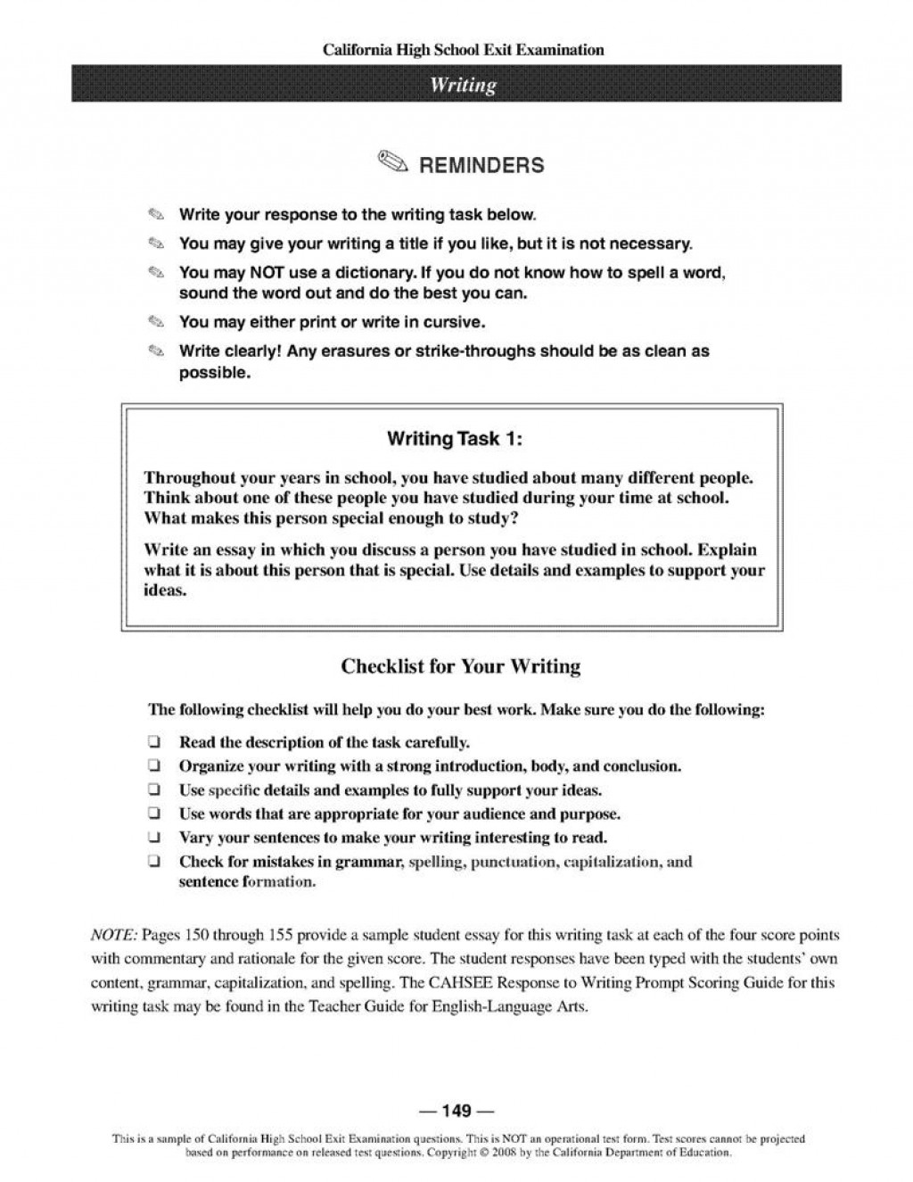 002 Essay Prompt Person Studied Custom Fascinating Writing Examples Generator Romance For 5th Grade Large