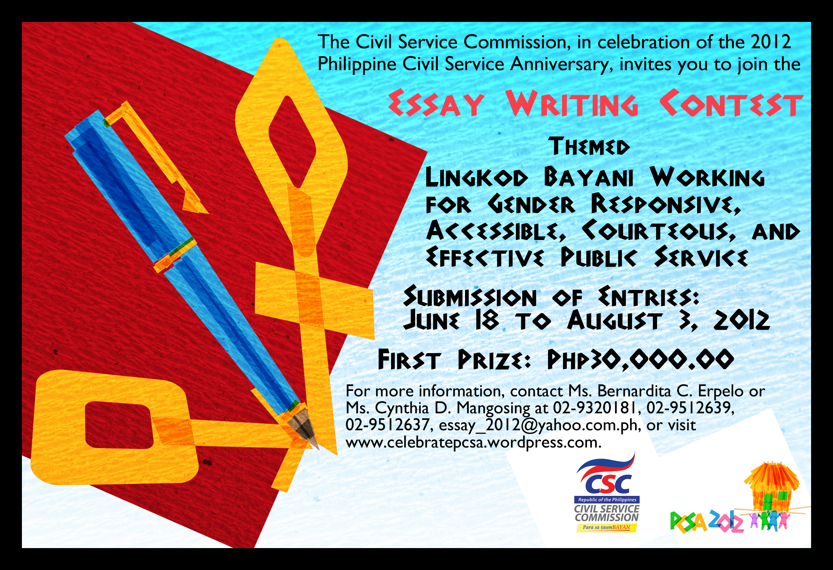 002 Essay Writing Contest 2012pcsa Flyer Kubo Essay3 Incredible Free Contests 2018 International Competitions For High School Students India Full
