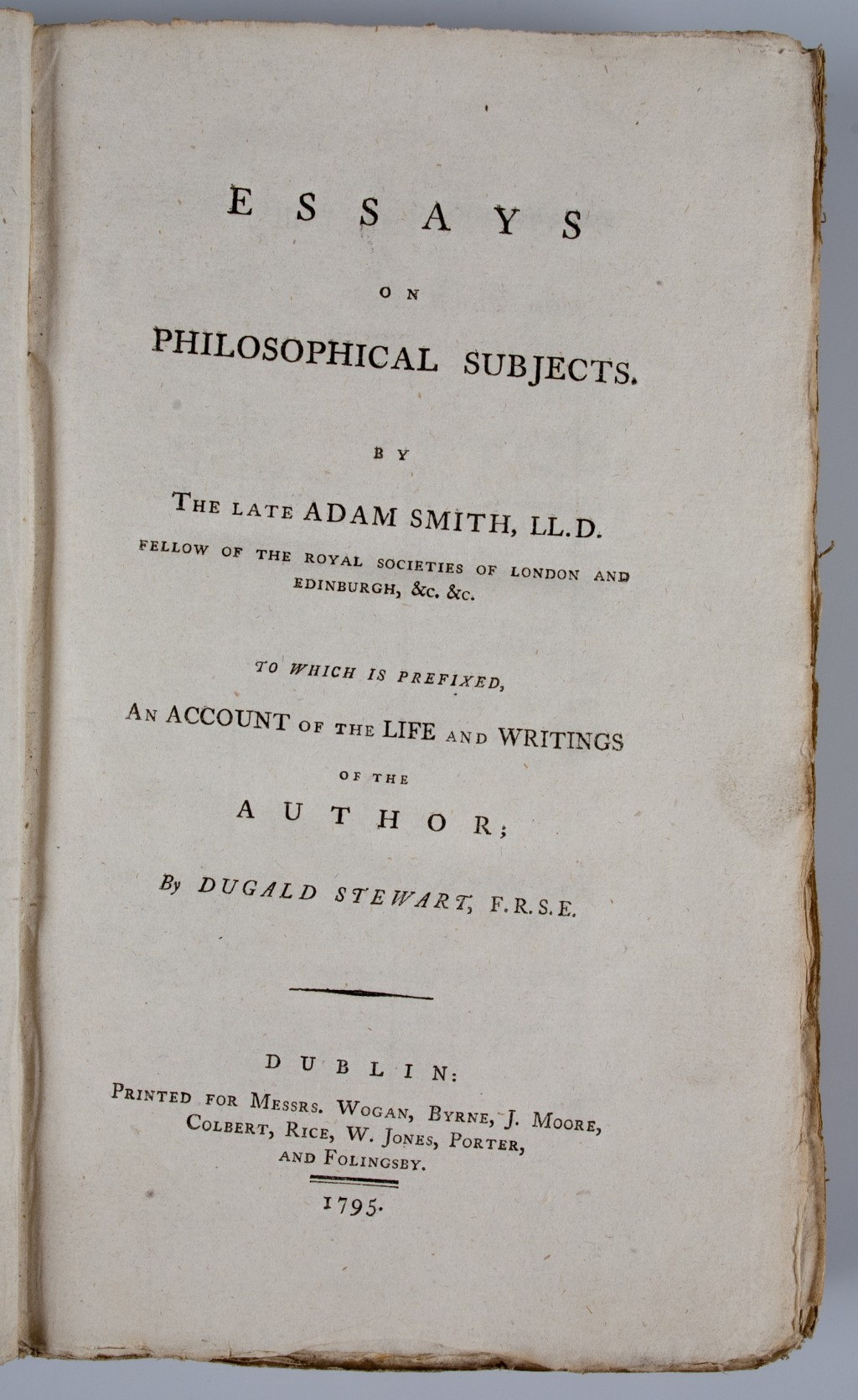 002 Essays On Philosophical Subjects Essay Example 54130 02 Best Summary Adam Smith Large