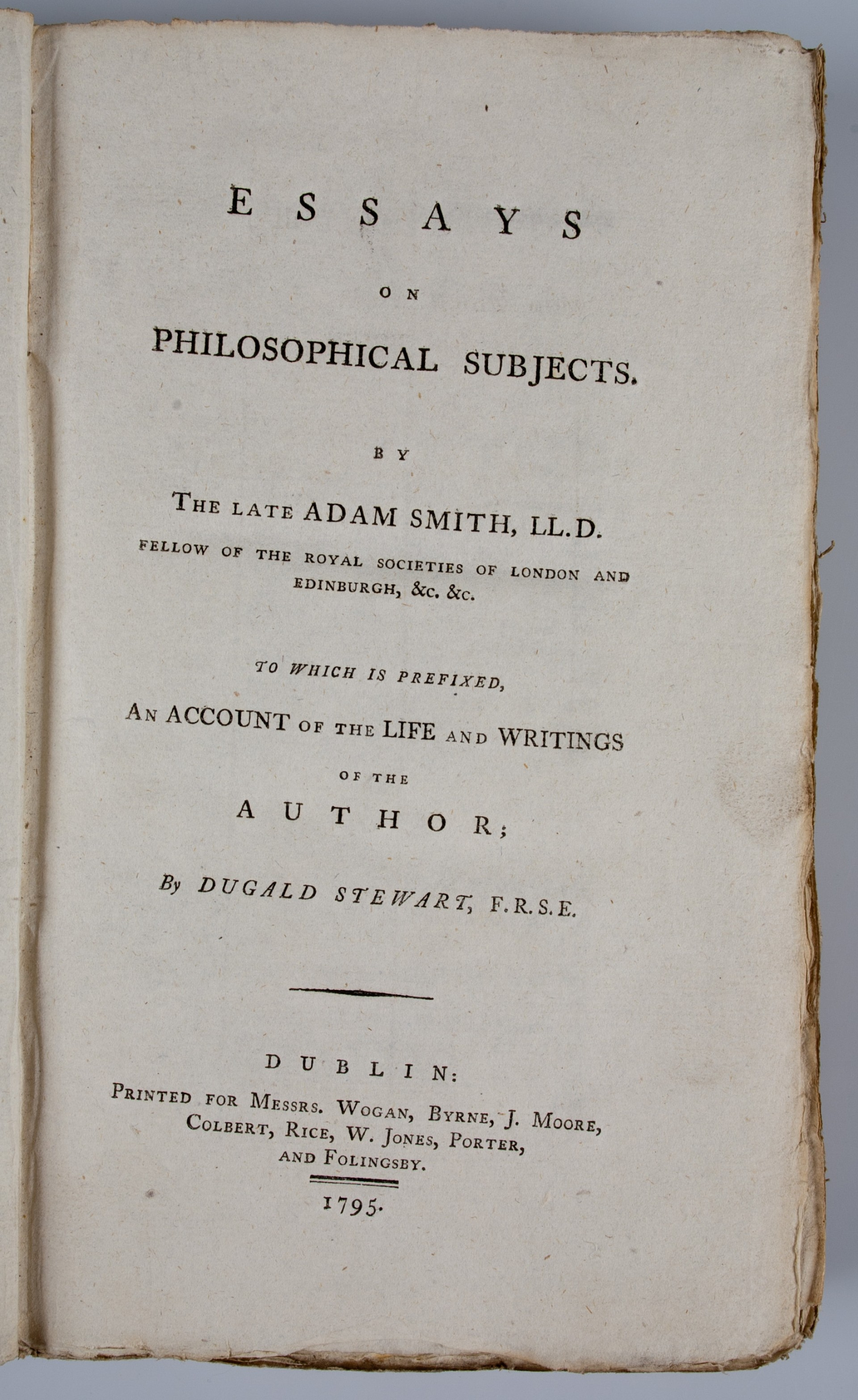 002 Essays On Philosophical Subjects Essay Example 54130 02 Best Smith Pdf 1920