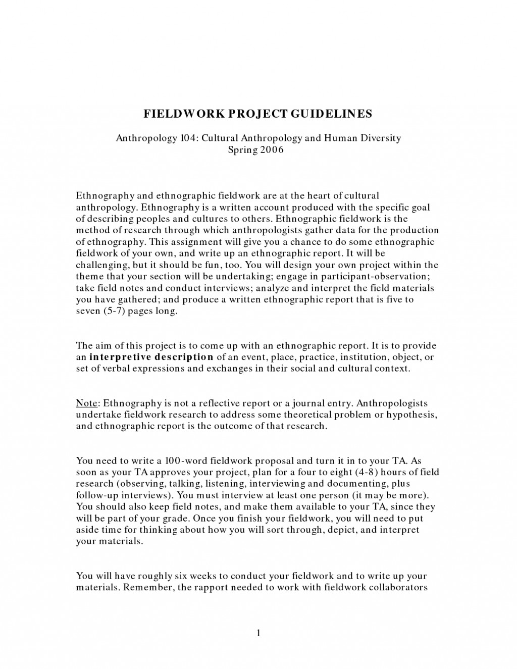 002 Ethnographic Essayss Essay L Amazing Outline Format Samples Large