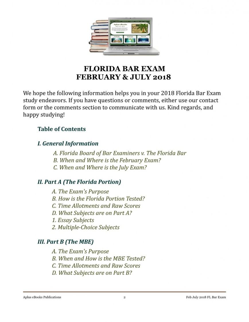 002 Florida Bar Essays Essay Exceptional Exam 2017 Predictions July 2018 Feb