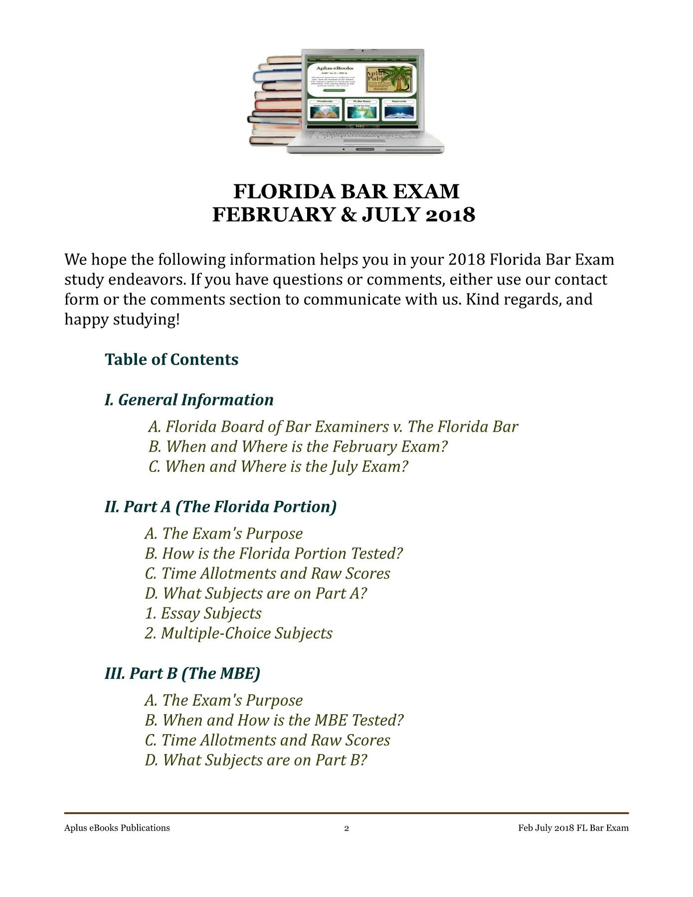 002 Florida Bar Essays Essay Exceptional July 2018 Exam 2017 Feb Full