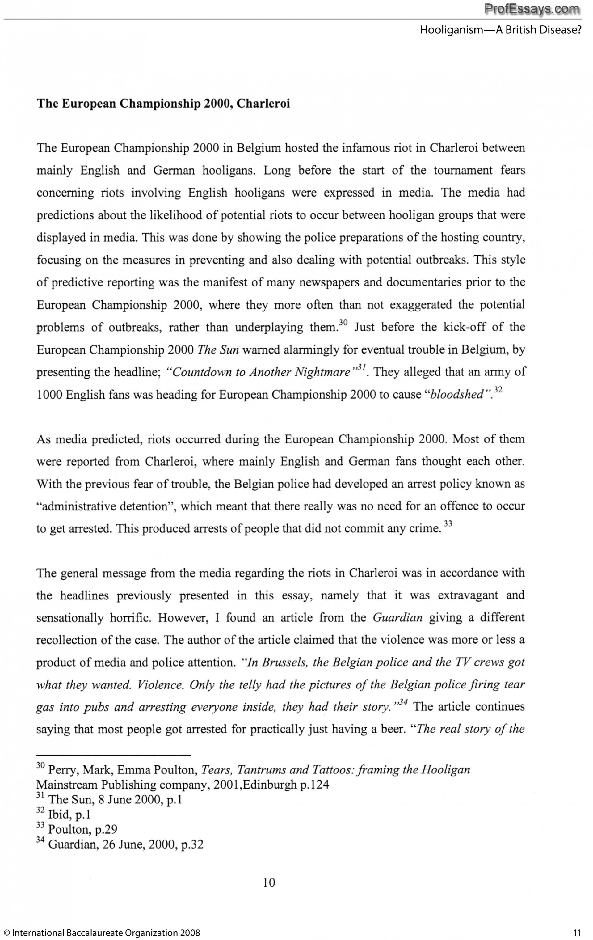 002 Free Professional Essays Ib Extended Essay Sample Impressive 1920