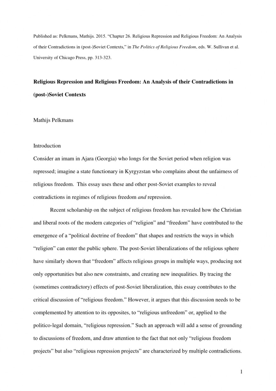 002 Freedom Of Religion Essay Example Beautiful Speech Philippines In India