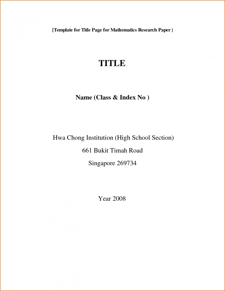 002 Front Page Of Research Paper Format Cover For Essay Phenomenal Apa Title Style