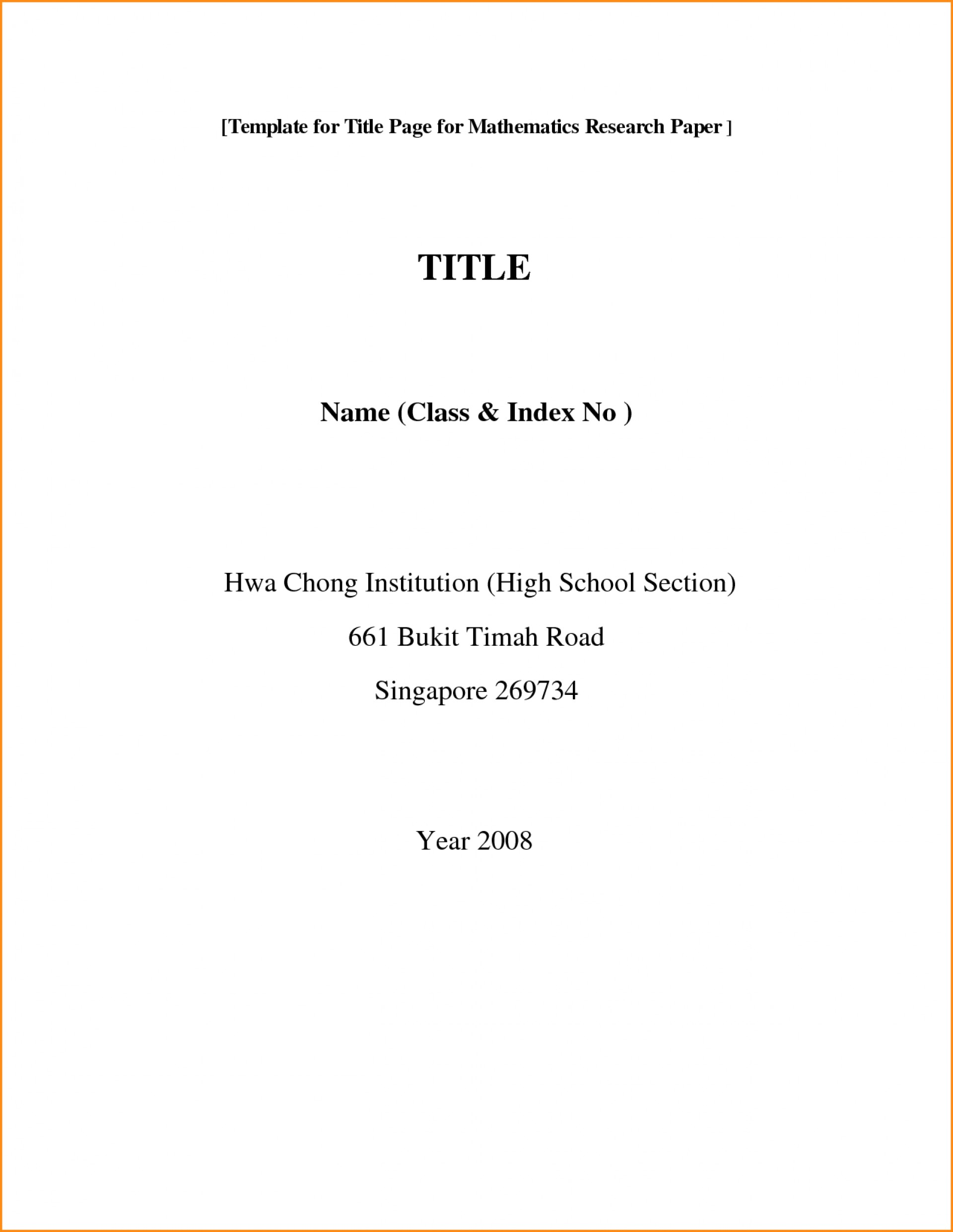 research paper cover page apa