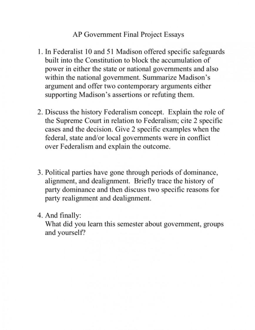 Government Essay | Bartleby