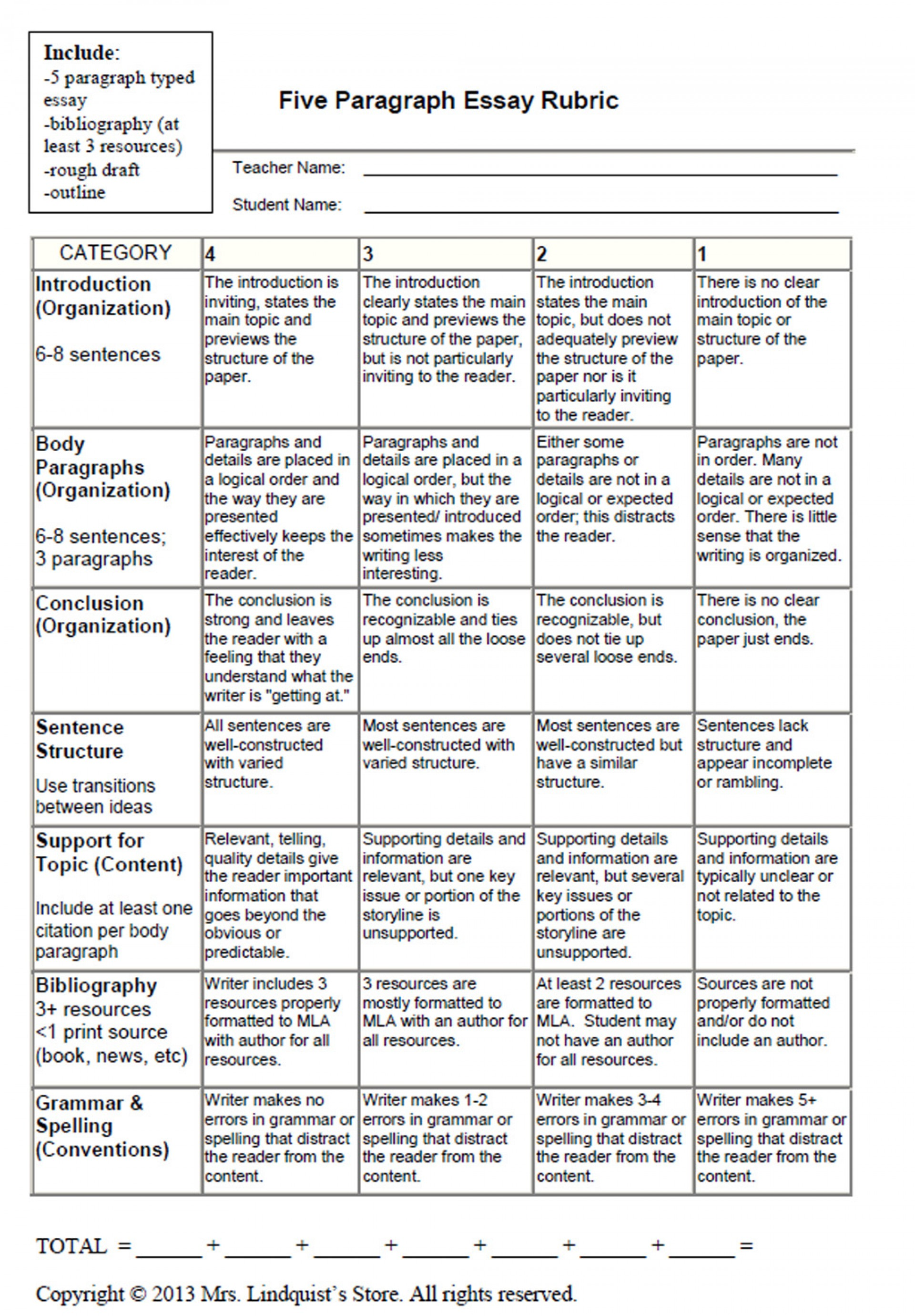 002 Graphic20organizers20and20rubrics20for20writing04 Large Expository Essay Rubric Awesome 5th Grade Informative Writing 4 7th 1920