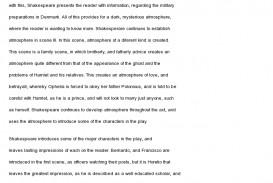 002 Hamlet Essay Act Example Rare Topics Ophelia 1 Ap Literature Prompt