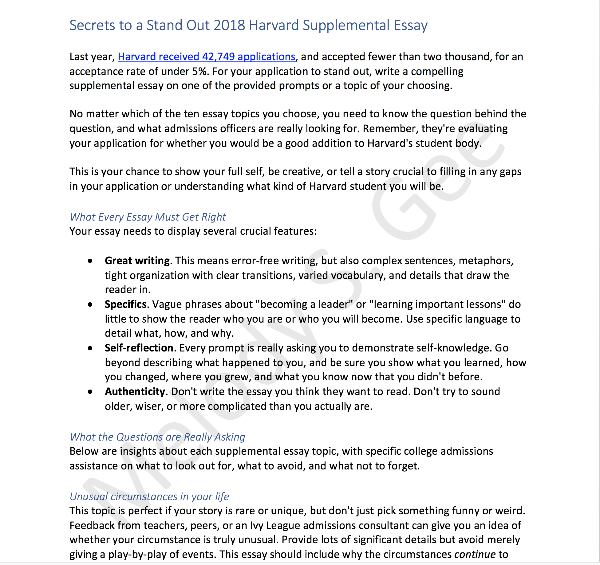 002 Harvard Supplemental Essay Sample Supplement Remarkable 2018 2018-19 Full