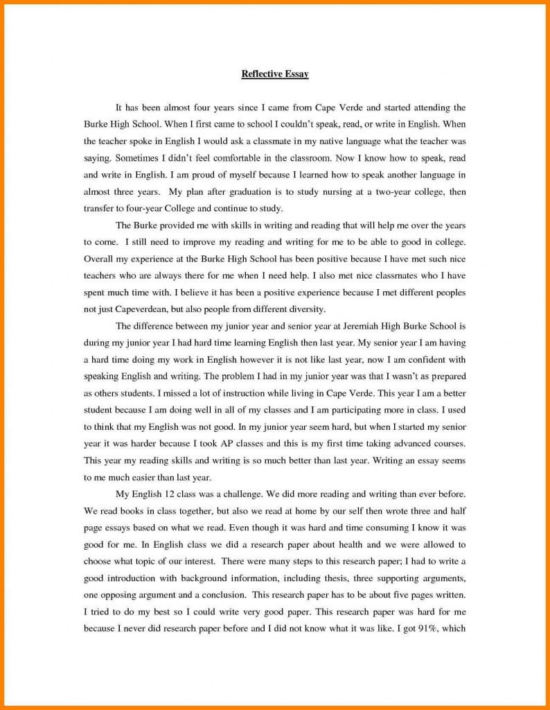 Sample personal experience essays