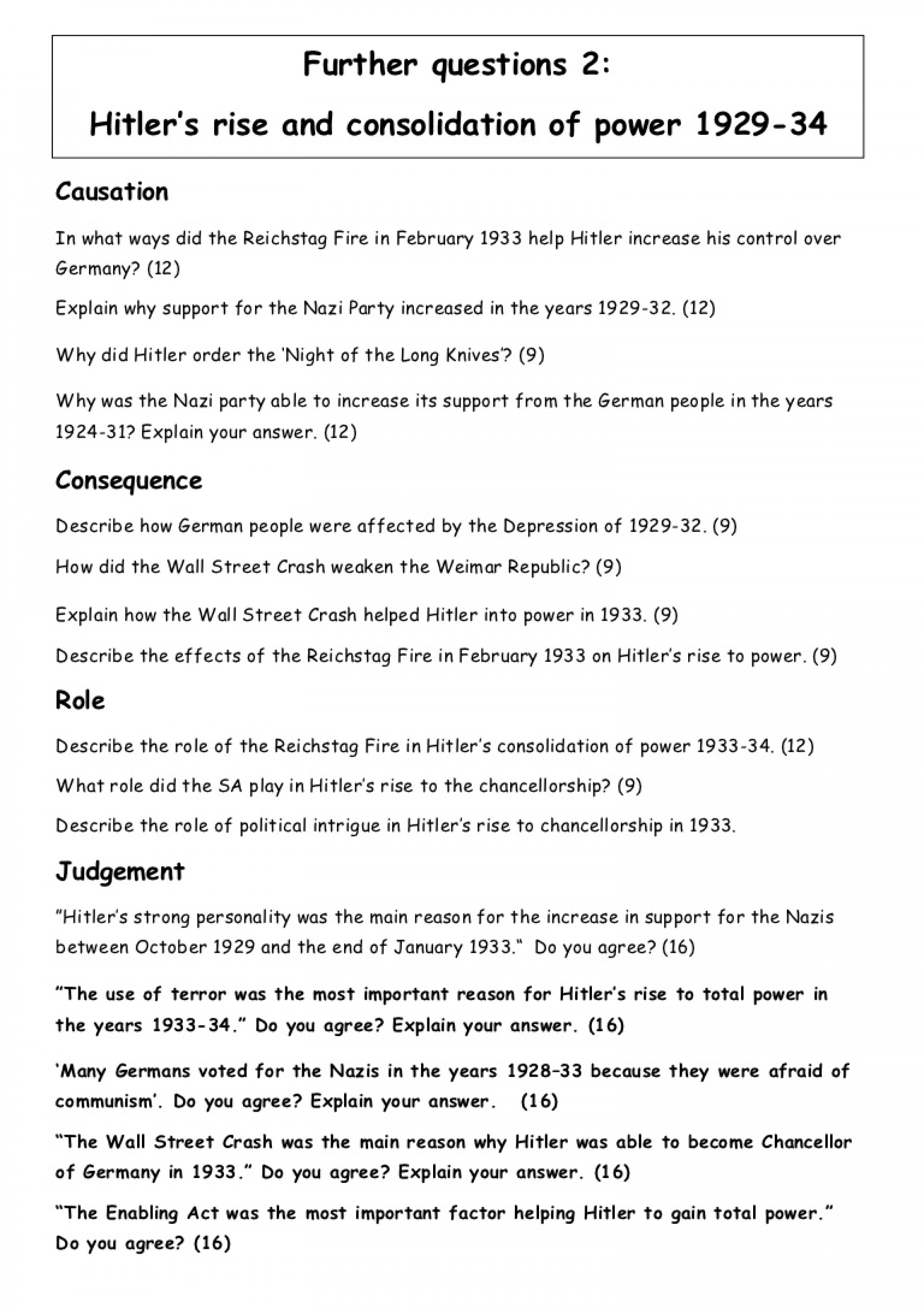 002 Hitlers Rise To Power Essay Furtherquestions2 Hitlersriseandconsolidationofpower Phpapp01 Thumbnail Impressive Hitler's Free Reasons For 1933 1920