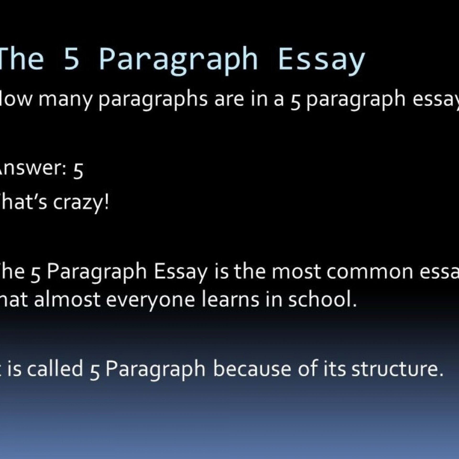 002 How Many Sentences Are In Paragraph For An Essay 2867177336 Is Wondrous A College 5 Each Of 1920