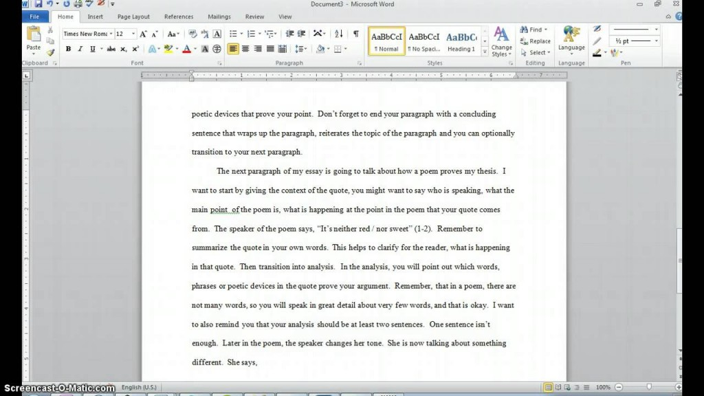 002 How To Quote Poem In An Essay Example Best A Lines From Mla Chicago Style Large
