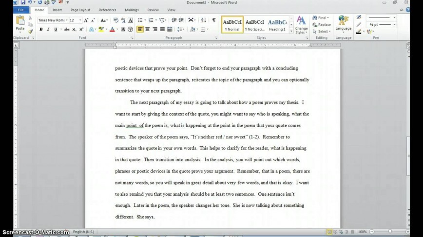 002 How To Quote Poem In An Essay Example Best A Title Chicago Style Apa