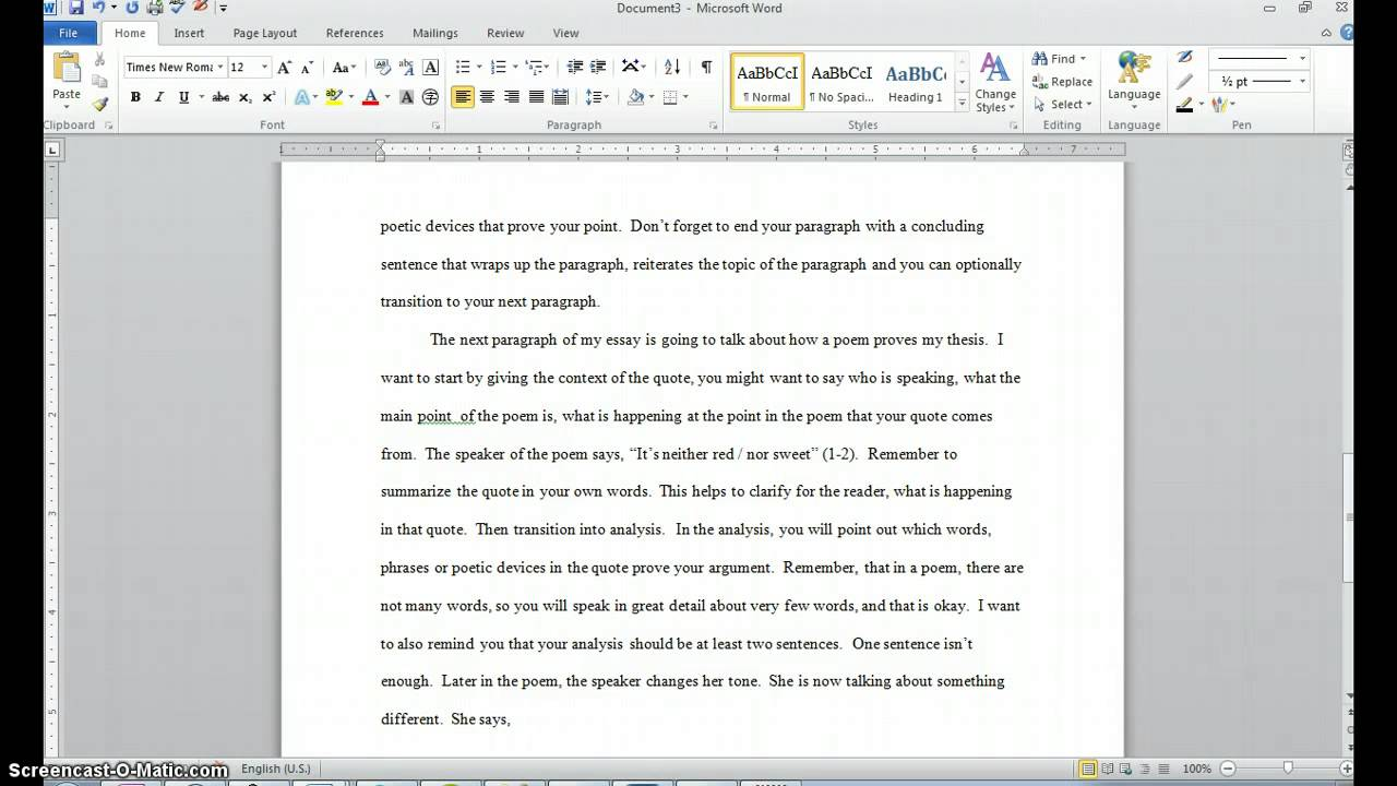 002 How To Quote Poem In An Essay Example Best A Title Apa Full