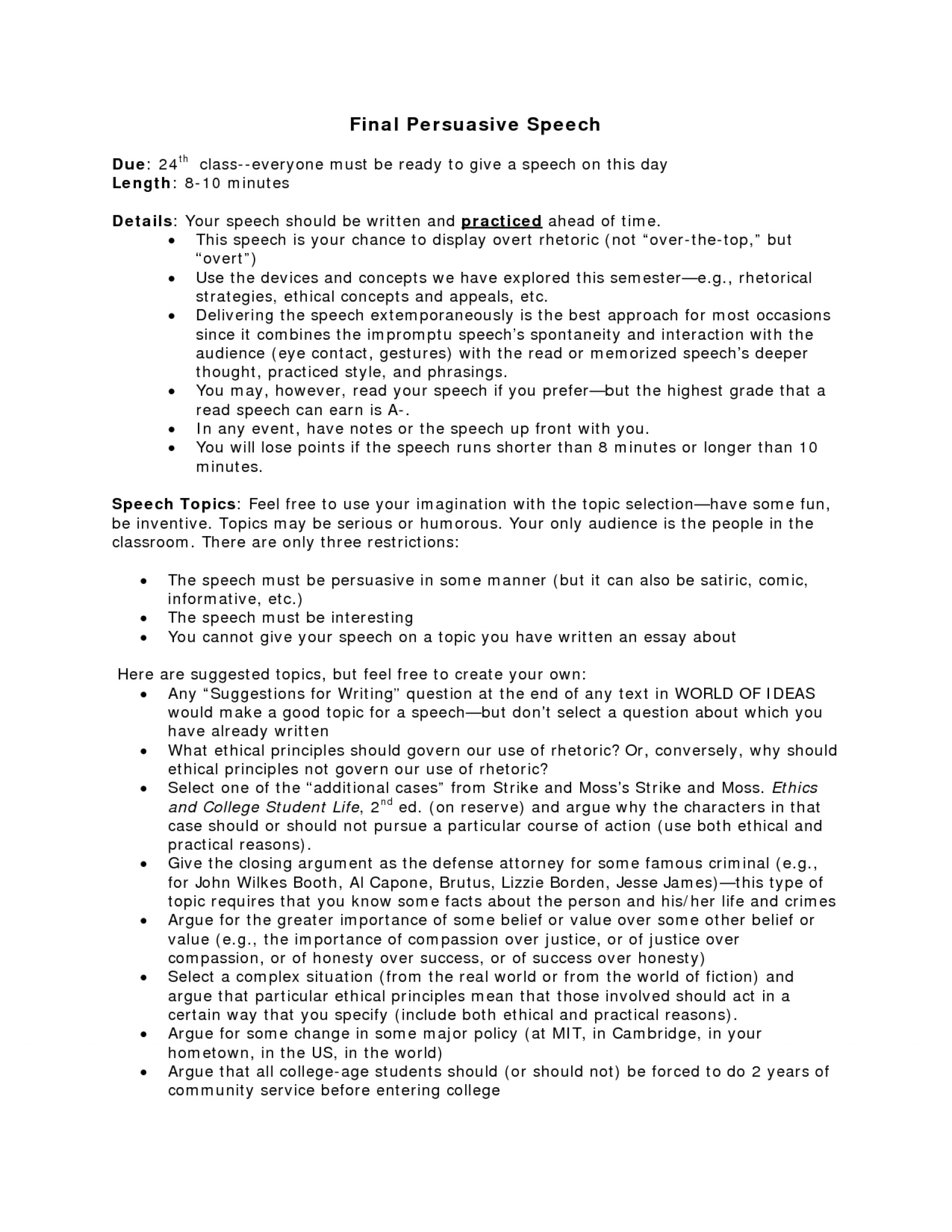 002 Interesting Persuasive Essay Topics Example Fun Argumentative Speech Gun Control Good Funny College Technolog For Middle School Students Unforgettable High 1920