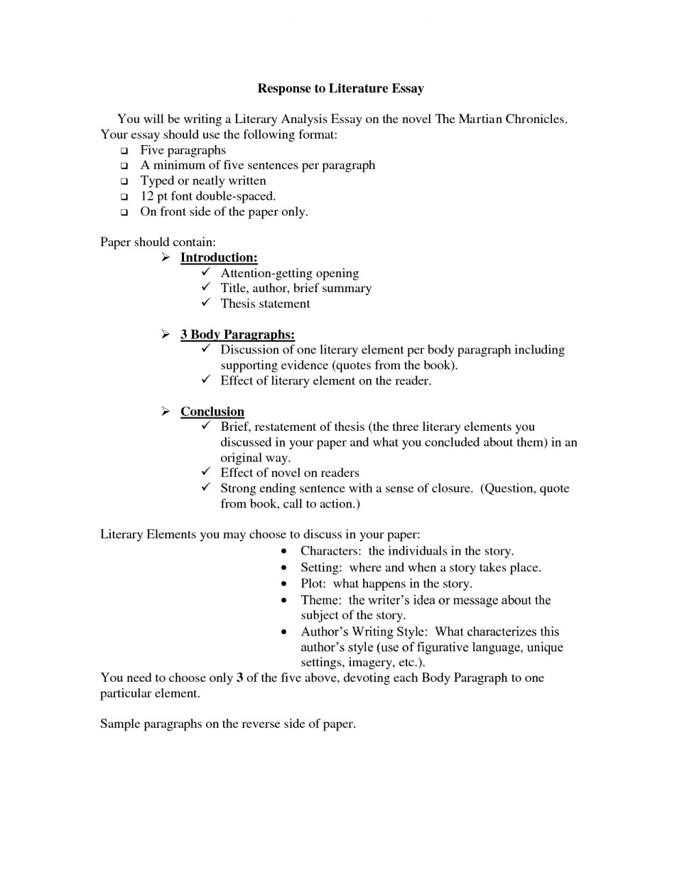 002 Literary Essay Help Responseature Character Sketch Macbeth Introduction College To Example 5th Grade 10th 8th 4th Examples Student Responding Sample 9th High School 6th 3rd How Write Shocking A On 960