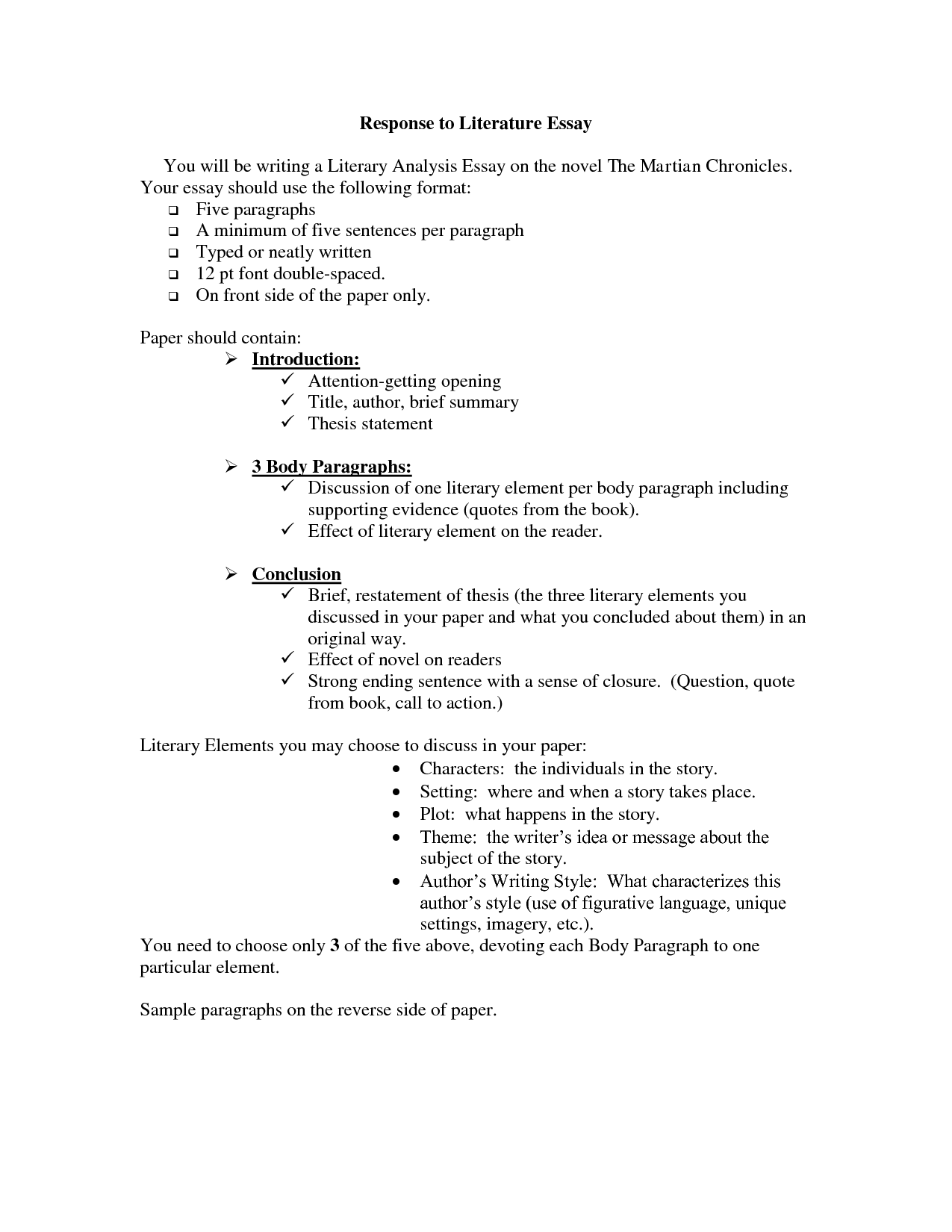 002 Literary Essay Help Responseature Character Sketch Macbeth Introduction College To Example 5th Grade 10th 8th 4th Examples Student Responding Sample 9th High School 6th 3rd How Write Shocking A On Full