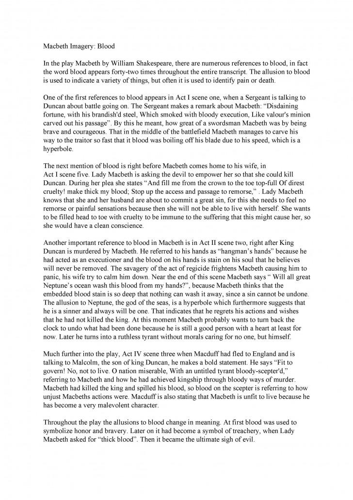 002 Macbeth Essay Sample Impressive Example Good About Yourself Examples Pdf Descriptive 728