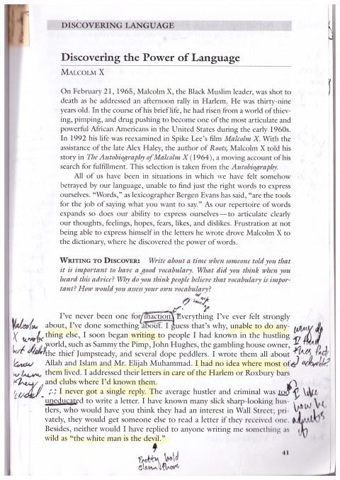 002 Malcolm X Essay Example Page Stunning Learning To Read Questions Summary 480
