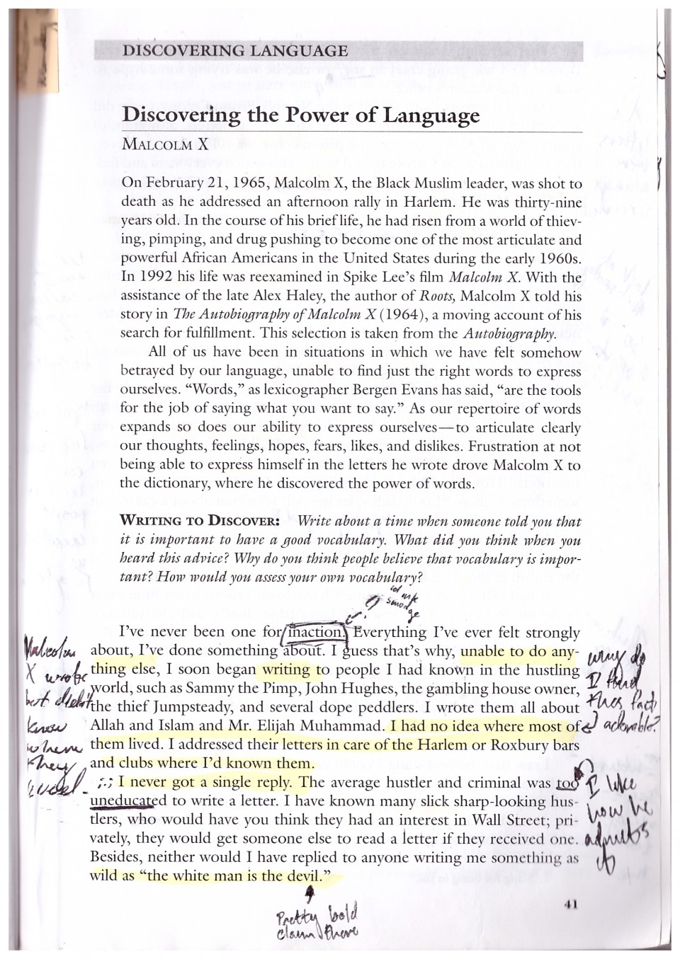 002 Malcolm X Essay Example Page Stunning Learning To Read Questions Summary 960