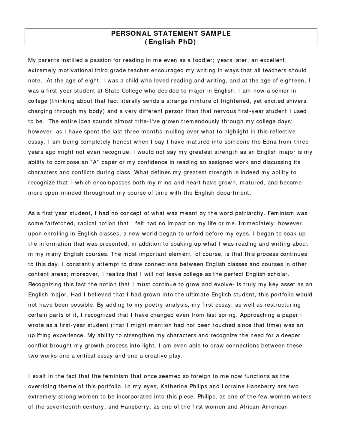 Masters of education admission essay
