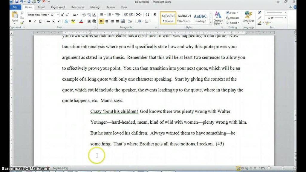 002 Maxresdefault Essay Example How To Quote Play In Top A An Dialogue From Do You Lines Mla Large