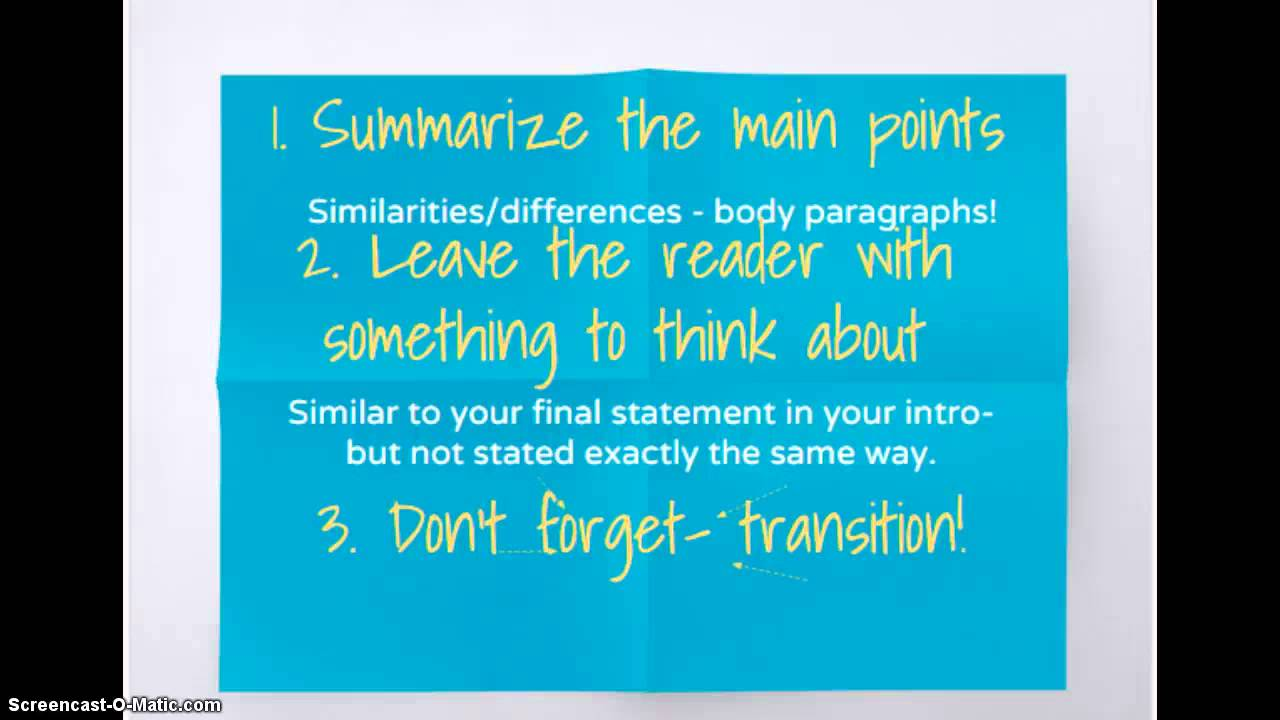 002 Maxresdefault How To Conclude Compare And Contrast Essay Fantastic A Start Writing Comparison Write Begin Full