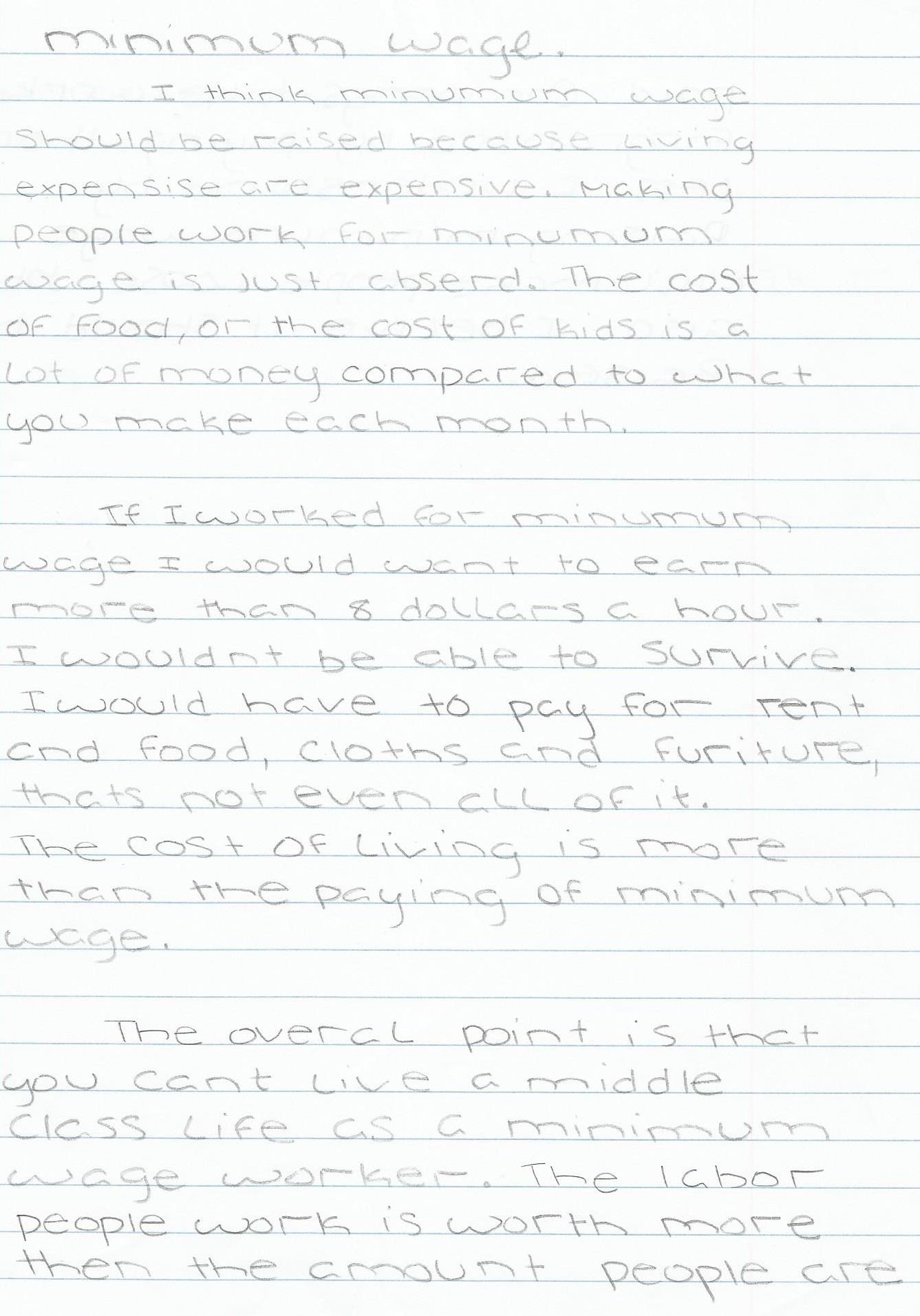 002 Minimum Wage Essay Should Raised Write Schola Increase Argumentative Raising Impressive Persuasive Topics Contest Outline Full