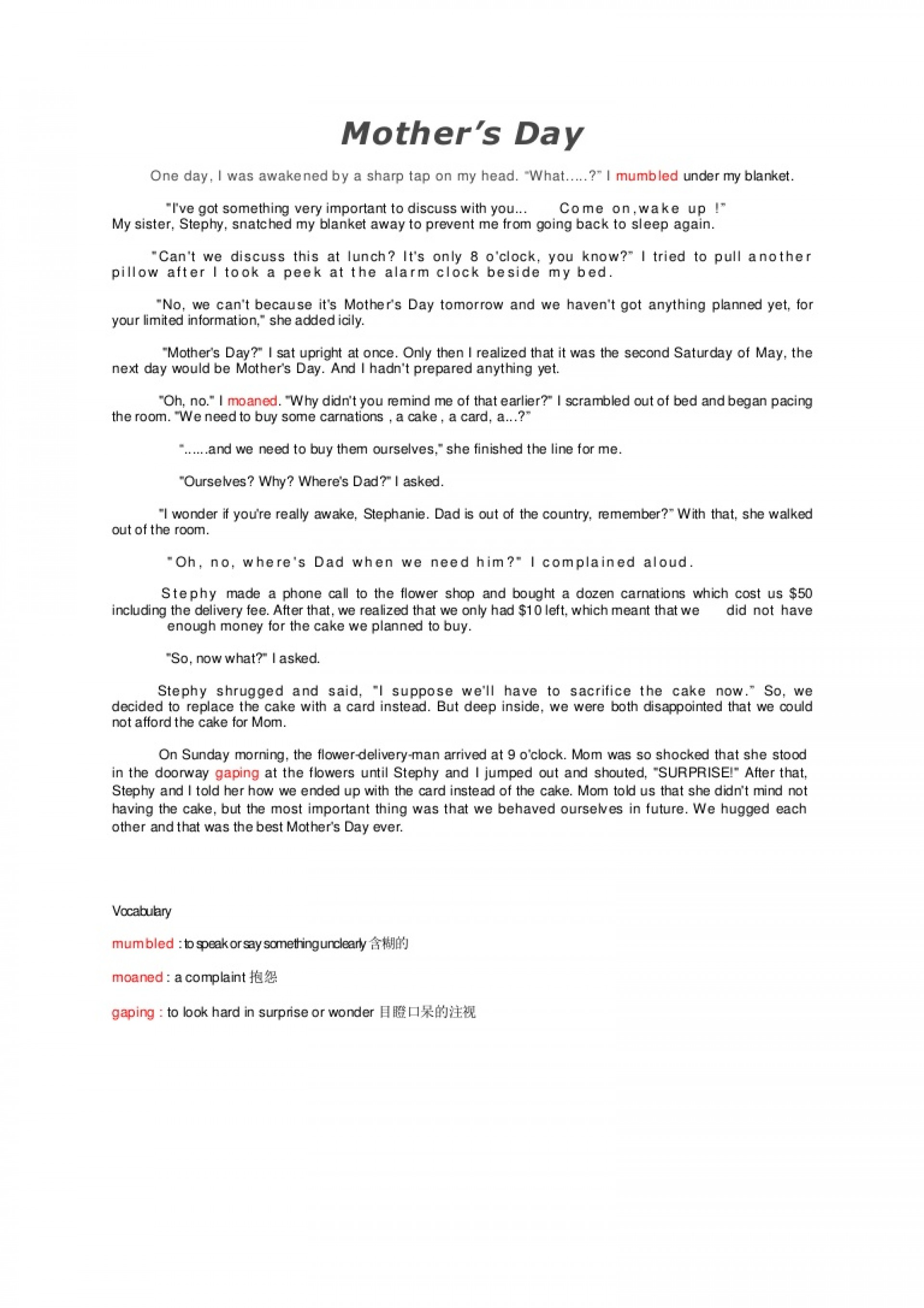 002 Mothersday Phpapp02 Thumbnail Mothers Day Essay Top In Kannada Contest Mother's Telugu 1920